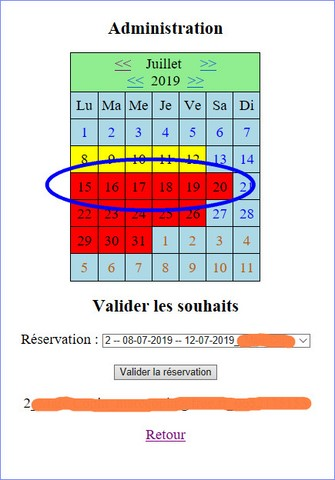 la validation est ok