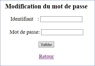 modification du mdp
